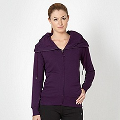 XPG by Jenni Falconer - Dark purple zip through sweater