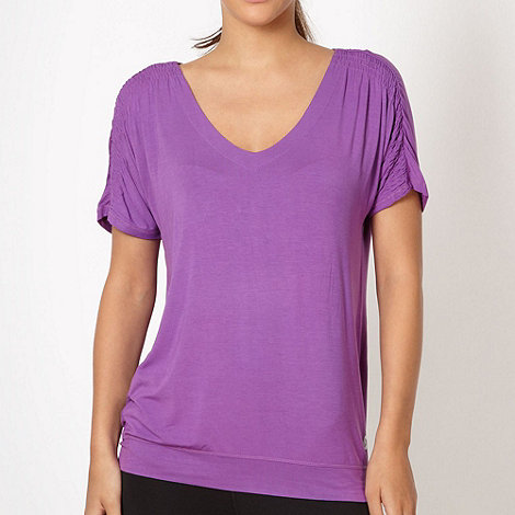 XPG by Jenni Falconer - Purple V neck t-shirt