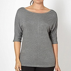 XPG by Jenni Falconer - Black striped loose fit fitness top