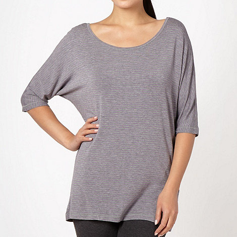 XPG by Jenni Falconer - Grey fine striped loose fit t-shirt