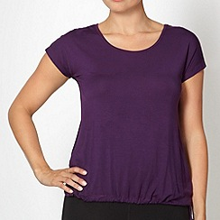 XPG by Jenni Falconer - Dark purple jersey keyhole top