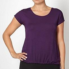 XPG by Jenni Falconer - Dark purple jersey keyhole top