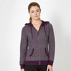 XPG by Jenni Falconer - Purple striped zip through hoodie