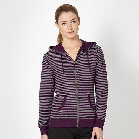 XPG by Jenni Falconer - Purple striped zip through hoodie