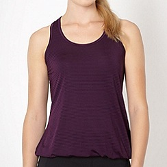 XPG by Jenni Falconer - Dark purple striped vest