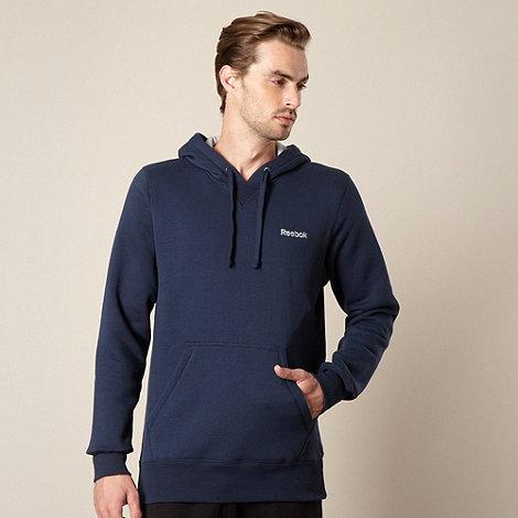 Reebok - Navy fleece lined hoodie