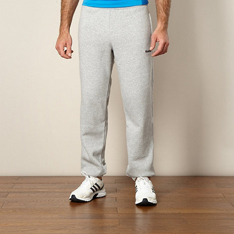 Reebok - Grey cuffed jogging bottoms
