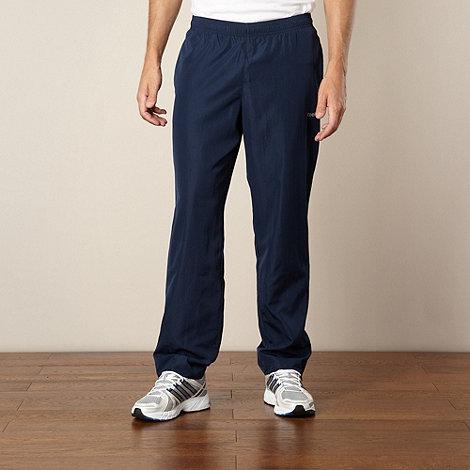 Reebok - Navy woven jogging bottoms