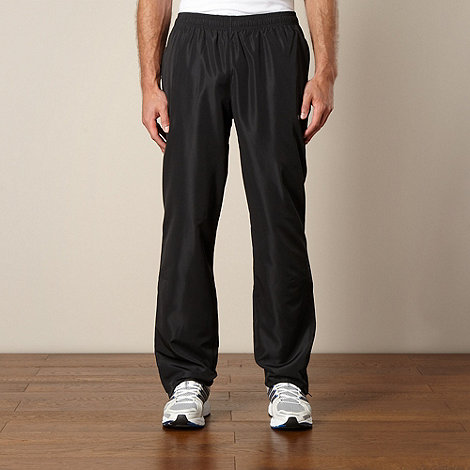 Reebok - Black woven jogging bottoms