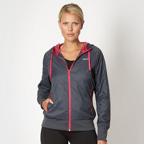 Reebok - Grey woven zip through jacket