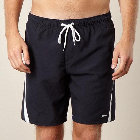 Speedo - Navy diagonal panelled swim shorts