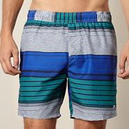 Blue striped board shorts