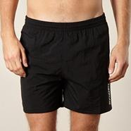 Black side logo swim shorts
