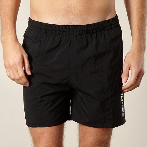 Speedo - Black side logo swim shorts