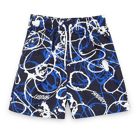 Speedo - Boy+s navy graphic swim shorts