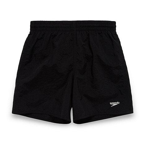 Speedo - Boy+s black swim shorts