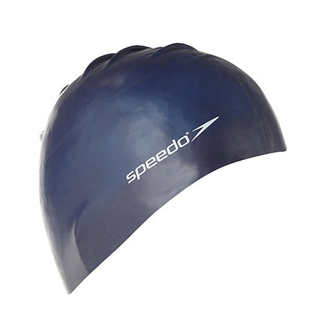 Speedo - Dark blue silicone swim cap