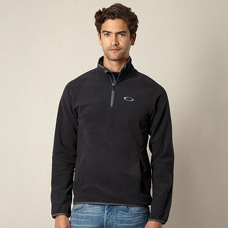 Oakley - Dark grey zip neck fleece top