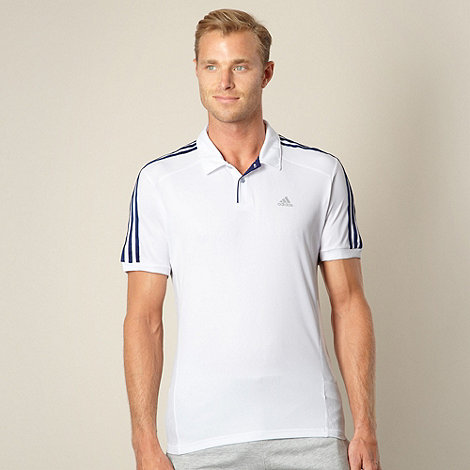 adidas - White essential polo shirt