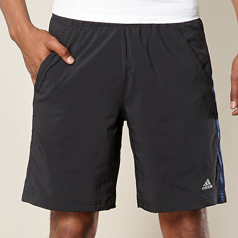 adidas - Black perforated shorts