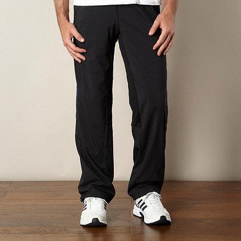 adidas - Black +ClimaCool++ jogging bottoms