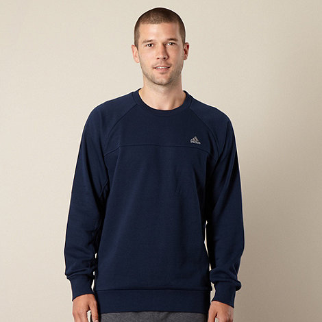 adidas - Navy crew neck sweatshirt