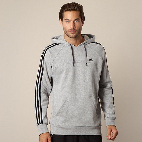 adidas - Grey fleece lined hoodie
