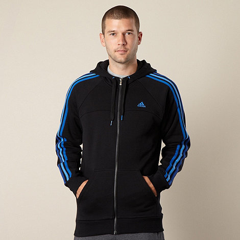 adidas - Black zip through hoodie