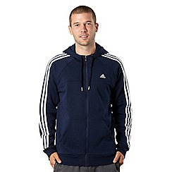 adidas - Navy zip through hoodie
