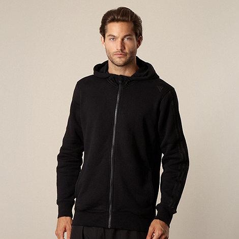 adidas - Black zip through hoodie