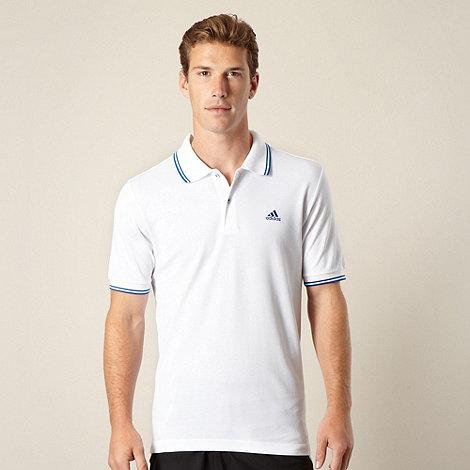 adidas - White tipped polo shirt