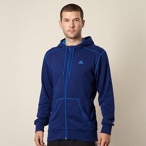 adidas - Blue zip through hoodie
