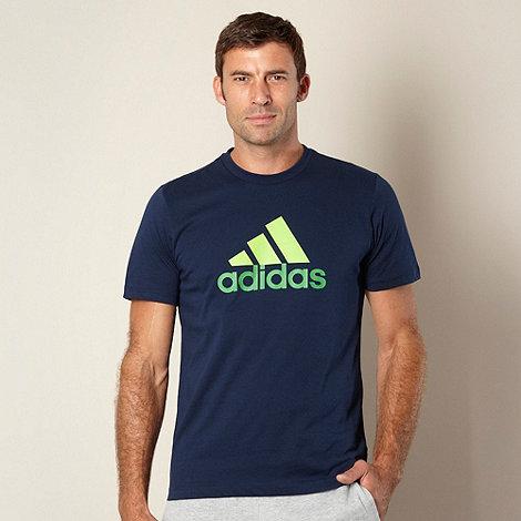 adidas - Navy logo printed t-shirt