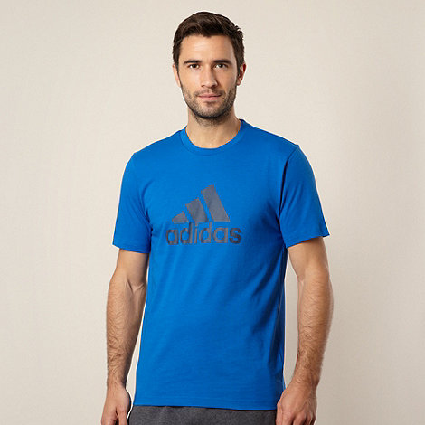 adidas - Bright blue logo t-shirt