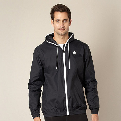 adidas - Black striped rain jacket