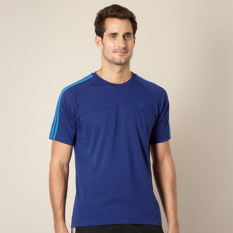 adidas - Dark blue striped t-shirt