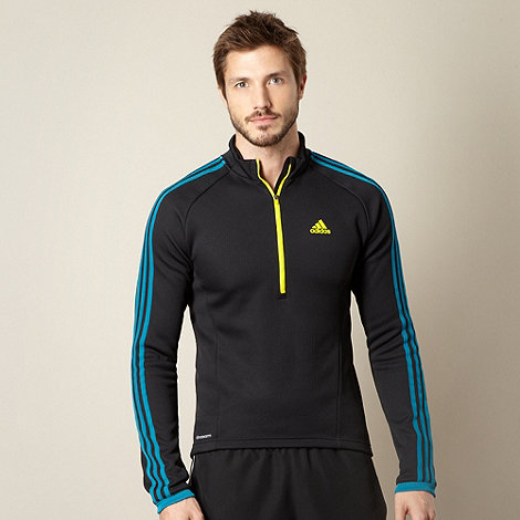 adidas - Cycling black zip neck pull over