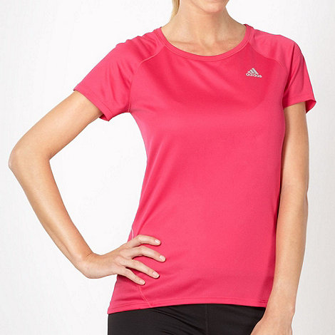 adidas - Bright pink +Sequence+ running t-shirt
