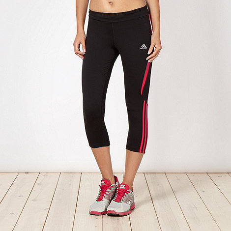 adidas - Black slim fit capri pants