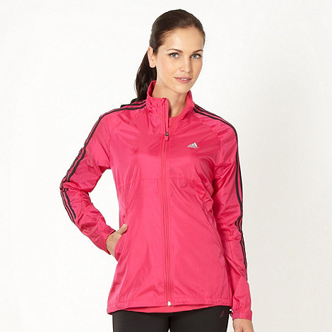 adidas - Pink lightweight running jacket