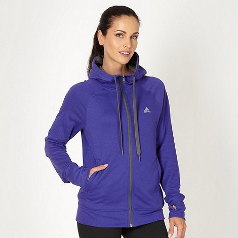 adidas - Purple +Prime+ zip through hoodie