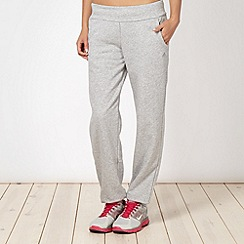 adidas - Grey cuffed jogging bottoms