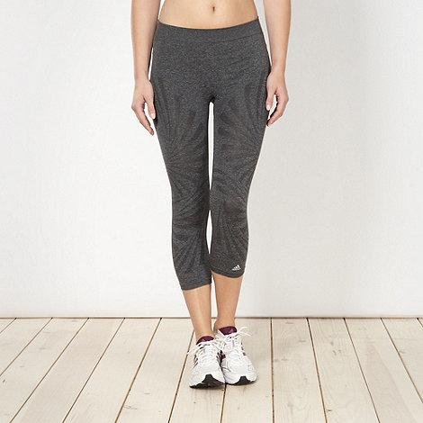 adidas - Grey printed fitness tights