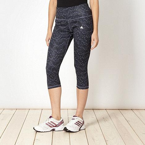 adidas - Grey printed fitness leggings
