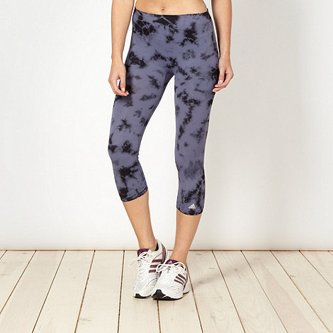 adidas - Grey inkblot printed leggings