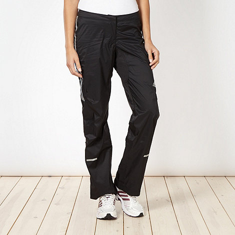 adidas - Black waterproof jogging bottoms