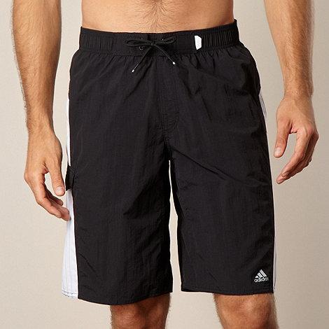 adidas - Black panelled swim shorts