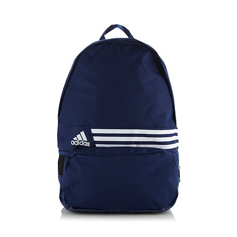 adidas - Navy brand striped backpack
