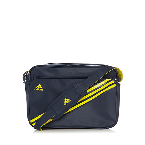 adidas - Navy panel messenger bag