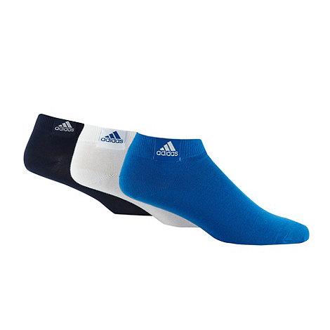 adidas - Pack of three blue ankle socks